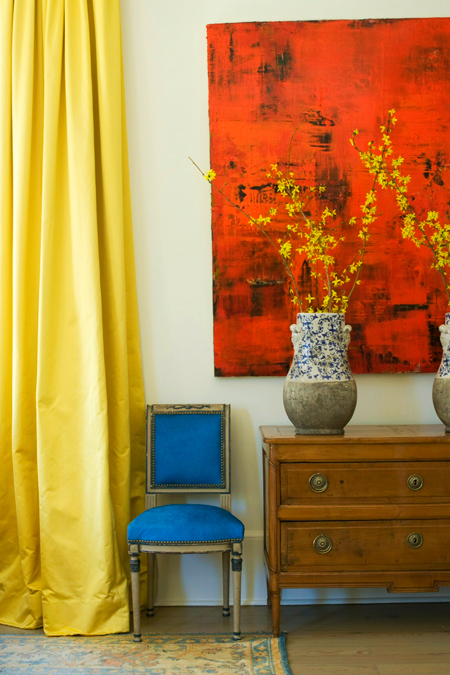 Yellow Drapes, Blue Chair