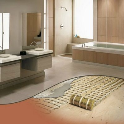 Heated floor mats this peaceful home for Heat bathroom