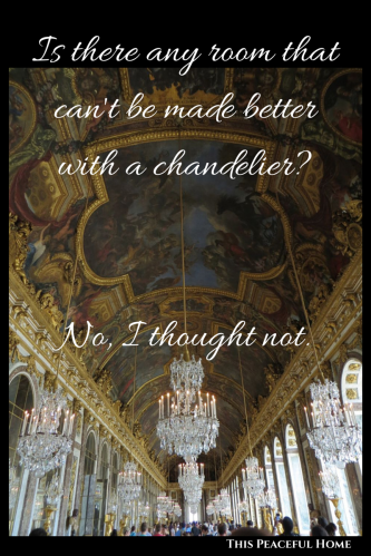 Versailles, Hall of Mirrors, chandeliers