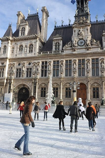 Skating in Front of l' Hotel de Ville