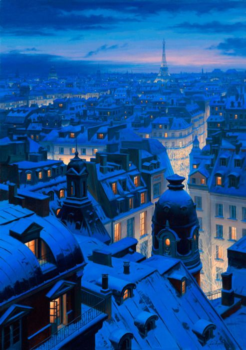 Winter Evening in Paris
