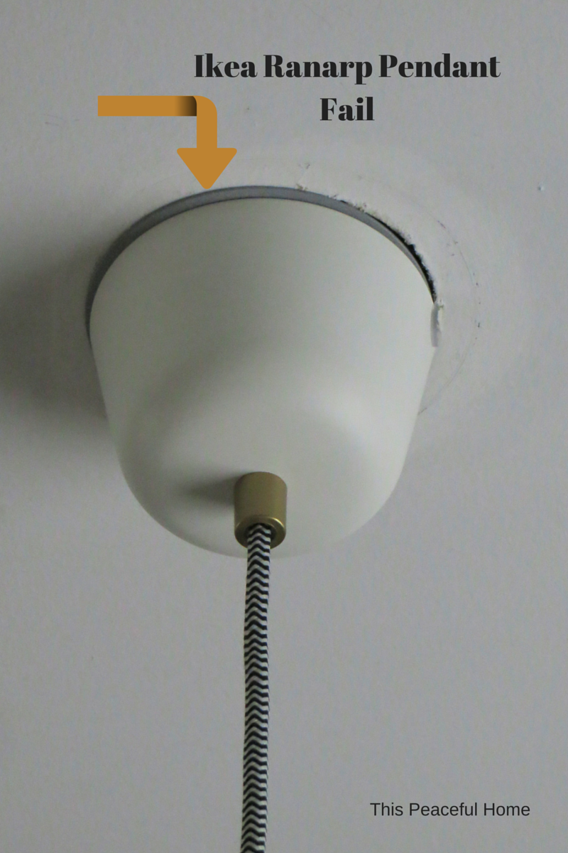 Ranarp pendant light fix this peaceful home ikea ranarp pendant fail aloadofball