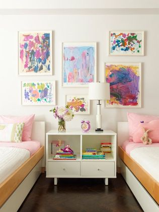 Tidy Twin Bed Children's Room