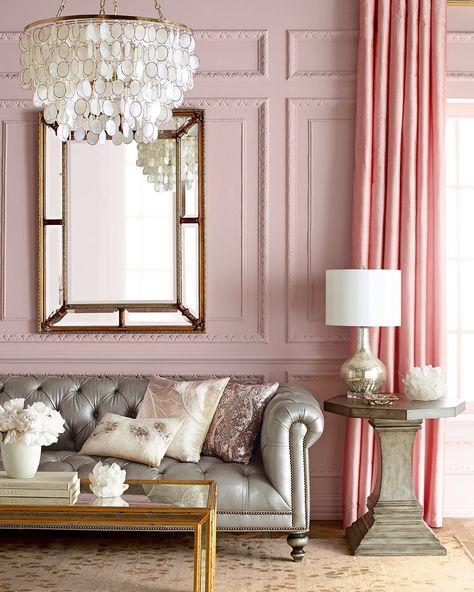 Elegant Pink Living Room