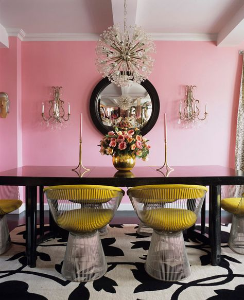 Eclectic Pink Dining Room