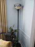 Tiffany-style Torchiere Lamp