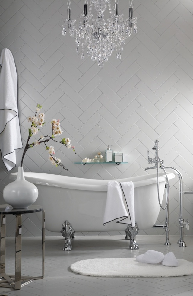 Elegant Herringbone Subway Tile