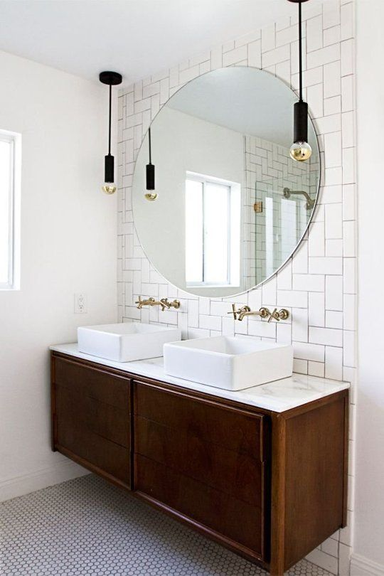 Tiled Vanity Wall